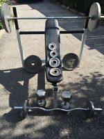 Bench and Weights for sale