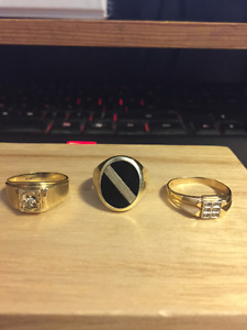 Selling 3 Solid Gold Rings