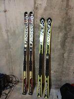 Volkl race tiger slalom rossignol world cup gs skis