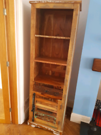 Reclaimed wooden furniture - Bookcase, TV stand, cabinet and mirror