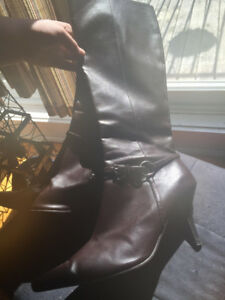 Brown Knee-High Boots Size 10