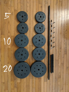 US Weight Dumbell Set (105Lbs)
