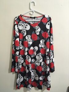 Skulls and Roses cocktail dress