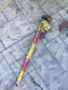 """large heavy duty pipe wrench 36"""""""