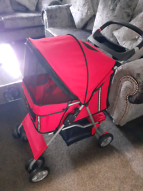 Pet dog stroller pushchair