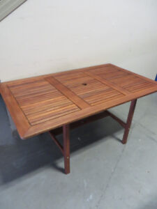~~~Brand New Wood Patio Table