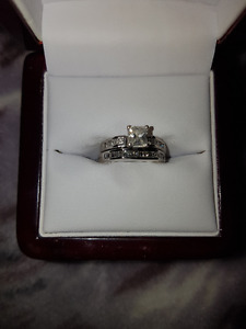 Engagement/Wedding Ring Set with appraisal