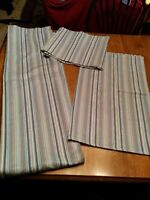 CUTE BLUE LINED CURTAIN SET FOR SALE