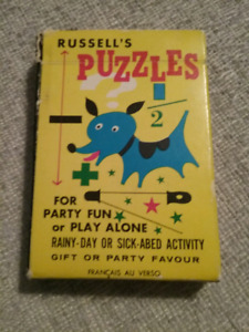 1950's Russell's Puzzles Card Games
