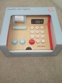 John Lewis wooden cash register- brand new
