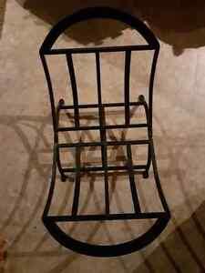 Black Iron Foldable Wood Holder! London Ontario image 2