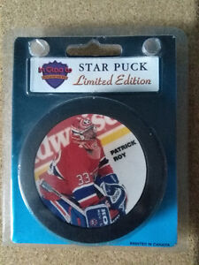 Rondelle Patrick Roy Star Puck Limited Edition Inglasco