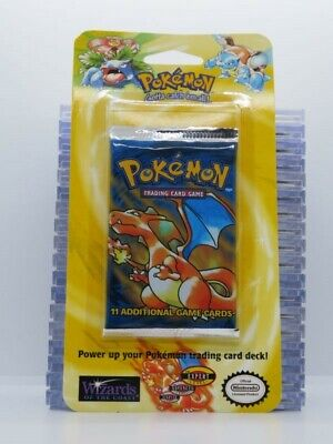 1999 Pokemon Base Set Sealed 11-Card Booster Blister Pack Charizard (E) A45