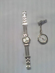 TWO LADIES WATCHES IN GOOD CONDITION A WRIST & NURES
