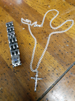 Bracelet and necklace with cross