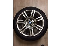 Bmw m sport alloys and tyres staggered set 17inch excellent condtion set of 4