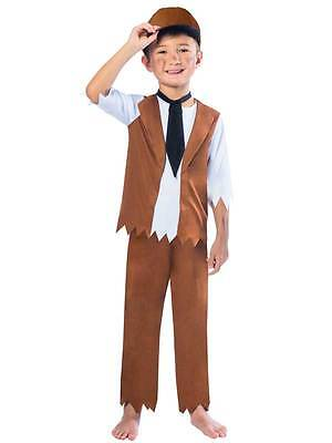 Victorian Poor Boy Costume Child Chimney Sweep Fancy Dress Peasant Ages 3-10 - Peasant Boy Costume