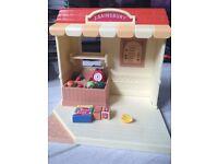 RARE j sainsbury's sylvanian families market shop stall