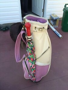 Golf bag and umbrella