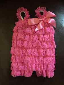 Pink Lace Romper Cambridge Kitchener Area image 1