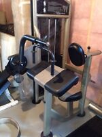 Commercial Tricep Machine w/ weight stack