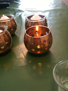 Candle Holders NEW With Glass inserts 3 different patterns 8 lot Kitchener / Waterloo Kitchener Area image 3