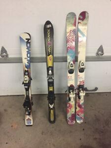 Ski junior 100 cm 110 cm et twin tip 120 cm et botte