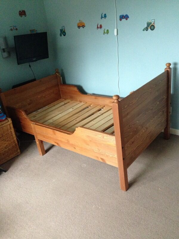 Ikea Malm Frisiertisch Einsatz Leksvik Extendable Toddler Bed In Rayleigh Essex Gumtree