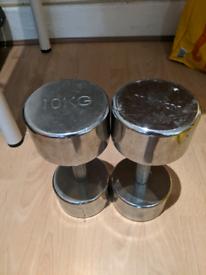 10kg Chrome Dumbbells Marcy (PAIR)