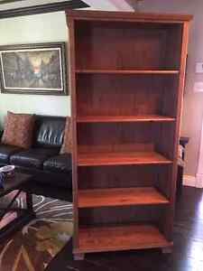 BOOKCASE SOLID WOOD, LIGHT BROWN