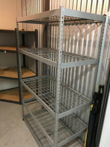 HEAVY DUTY STEEL SHELVING (3 for $250) MOVING
