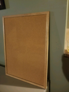 Oak frame cork board