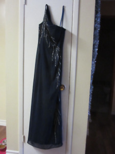 Royal Blue and Sequence Floor Length Gown