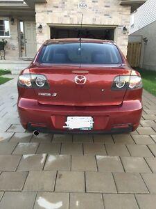 Burgundy 2008 Mazda 3 London Ontario image 3