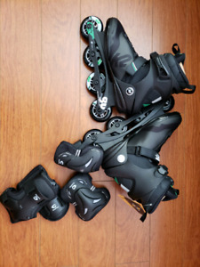 K2 Fit 80 BOA In-Line Rollerblades and Calix Line pads full set