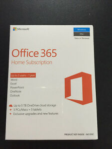 Microsoft Office 365 Home - 5 Users (Sealed)