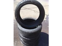 4 x 195/40/17 Accelera 7mm part worn tyres