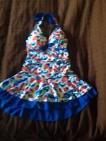 Woman's bathing suit and dress