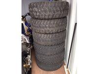 6x 31-10.50-15 tyres