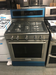 Kitchen-Aid Stoves White, Stainless Steel, Gas, Electric