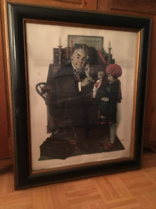 Norman Rockwell Doctor & The Doll, Collotype Print, Arthur Jaffe