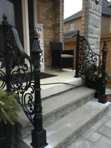 Iron railings and gates STAIRS PORCH SPINDLES IRON