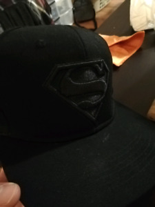 Blacked-out Superman snapback