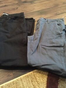 2 men's jeans and 1 men's jogger pants size 36
