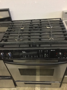"30"" Whirlpool Stainless Steel Gas Stove"