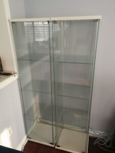 IKEA DETOLF glass door display cabinet