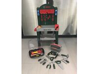 Bosch toy work bench and tools