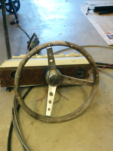Rack and pinion steering for boat