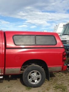 2009 Red Dodge Short Box Canopy