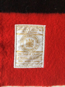 Hudson's Bay 4-point blanket made in England